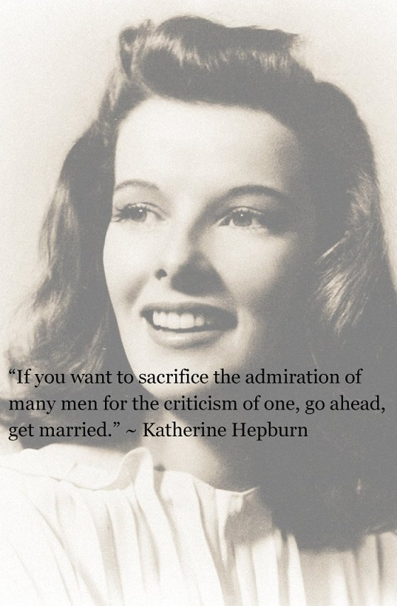 KATHERINE HEPBURN ON LOVE