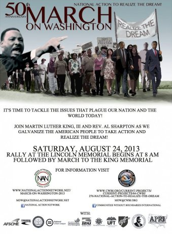 50th anniversary on the march on washington