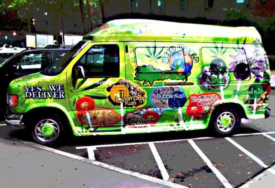weed world van poster.