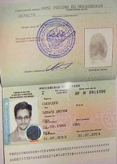 passport EdwardSnowden refuge in Moscow on Thurs