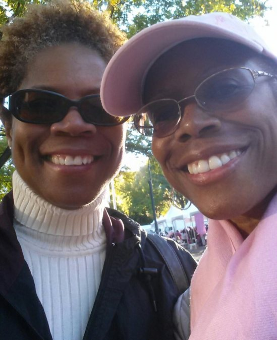 Lolly & Blu, sisters, at the Cancer Walk 2013.