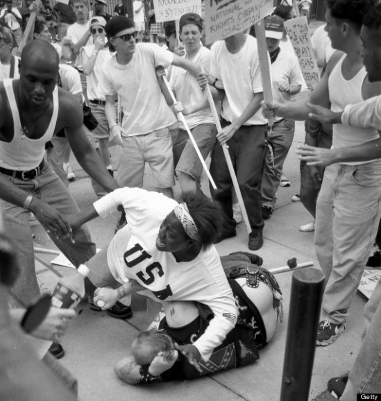 Black woman saves racist from mob