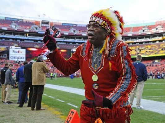 Washington Redskins fan Chief Zee