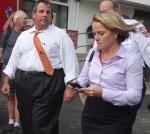 Govenor Christie with his ex-deputy chief of staff Bridget Anne Kelly.