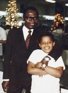 Barack Obama visiting with Obama Sr. in 1970.