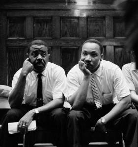 MLK and Rev,. Ralph Abernathy.