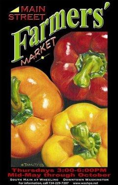 main street farmers market poster
